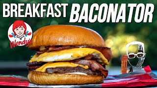 WE MADE WENDY'S BRAND NEW BREAKFAST BACONATOR - WORTH IT?! | SAM THE COOKING GUY 4K
