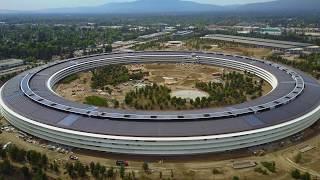 Apple Park June 2017- Spaceship in 4K