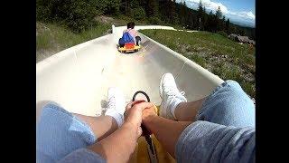 dad built real life mario kart course in backyard..