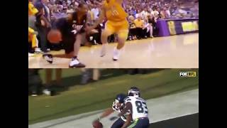 The Seahawks brought out the Allen Iverson step over celebration