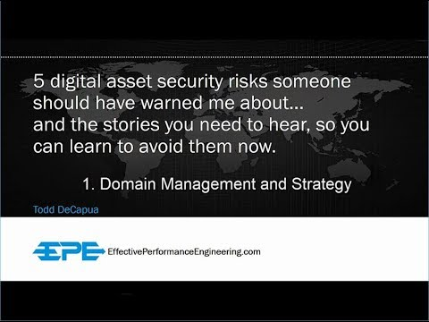 5 Digital Asset Security Risks [1-Domain Management and Strategy: 18 minutes]