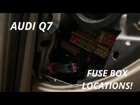 Audi Q7 fuse box locations - YouTube | Audi Q7 Fuse Box Location |  | YouTube