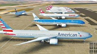 Infinite Flight Global Boeing 777-300ER Zurich - Los Angeles  , Expert server