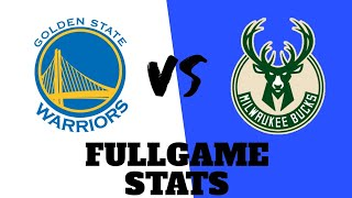 WARRIORS at BUCKS | FULL GAME STATS | Dec. 26, 2020