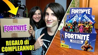 IL MIO COMPLEANNO con le STATUETTE di FORTNITE! Stampini Fortnite Stampers Collection ITA