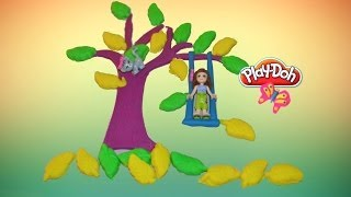Play-doh Lego Friends' Tree Swing - How To Make Play-doh Tree