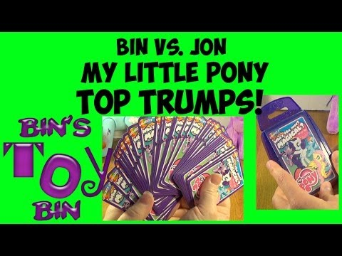 Bin Vs. Jon: My Little Pony TOP TRUMPS Card Game! Who Will Win? by Bin's Toy Bin