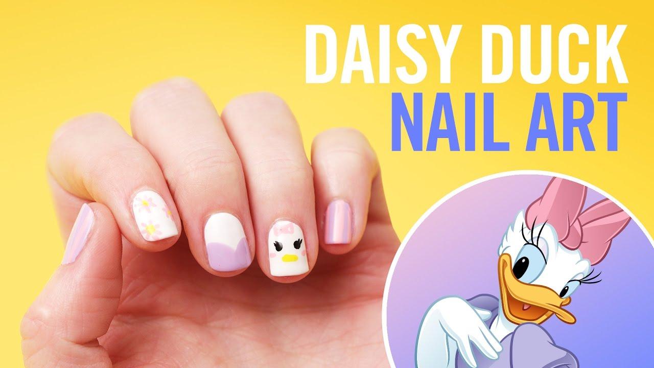 Daisy Duck Nail Art | TIPS by Disney Style - YouTube