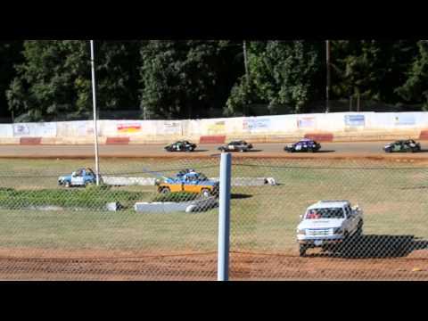 River City Speedway - St. Helen's Oregon 07/27/2013 4 Cylinder Heat 1