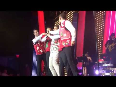 """Human Nature: Christmas Show """"Rudolph The Red Nose Reindeer"""" in Las Vegas on December 13, 2014"""