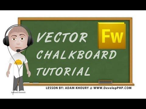 Adobe Fireworks Vector Chalkboard Graphics Tutorial CS4 CS5 CS6