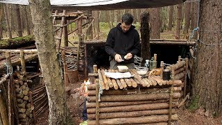 Bushcraft & Fishing - Catch and Cook Deep Fried Fish on the Fire at The Bushcraft Camp