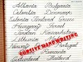 CURSIVE HANDWRITING STYLE ♥♥ COUNTRIES NAME WITH BEAUTIFUL WRITING