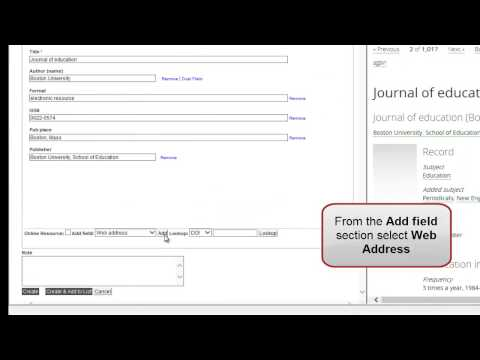 Adding an electronic journal to your reading list