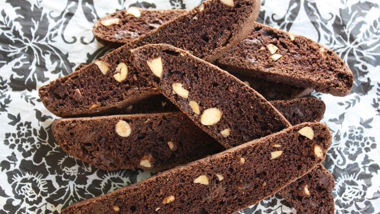 Dark Chocolate Almond Biscotti Recipe