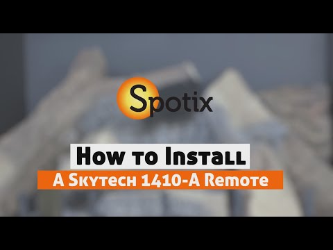How to Install a Skytech Fireplace Remote - SKY-1410-A - YouTube