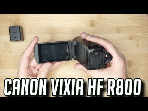 Canon Vixia hf R800 R80 Unboxing And camcorder review