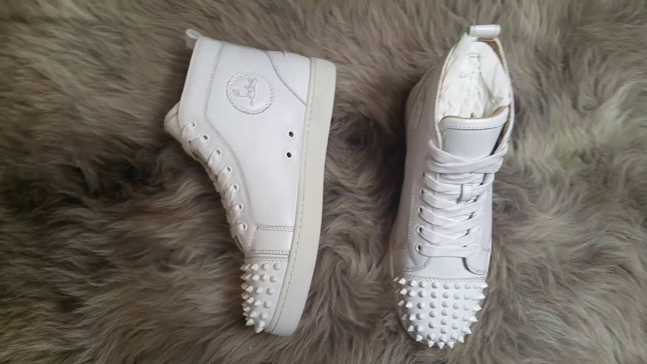 new style ac60a 3cdcc Limited Christian Louboutin White sneaker Review + On foot