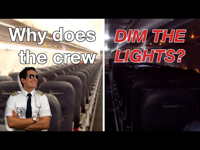 WHY does the CABIN CREW DIM the LIGHTS??? Explained by CAPTAIN JOE