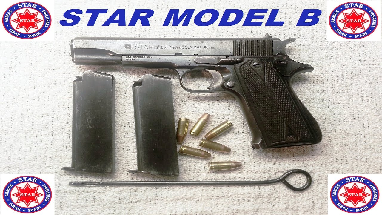 hight resolution of a look at the star model b 9mm c r pistol