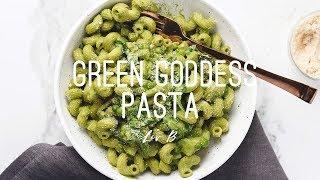 Green Goddess Pasta | vegan + gluten-free recipe