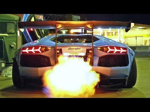 INSANE FLAMES! Lamborghini Aventador LP720-4 Ft. Liberty Walk/Armytrix/Airrex/Forgiato