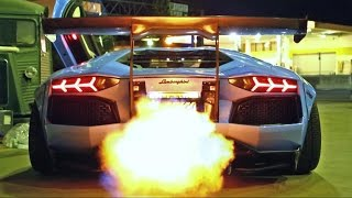 INSANE FLAMES! Lamborghini Aventador LP720-4 Ft. Liberty Walk/Armytrix/Airrex/Forgiato(Armytrix's YouTube channel: https://www.youtube.com/user/armytrix?sub_confirmation=1 Armytrix's website: http://www.armytrix.com - The company Armytrix ..., 2014-10-08T14:49:26.000Z)