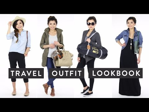 Travel Outfit Ideas Lookbook Cute Comfortable Fashionable Traveling Outfits Miss Louie