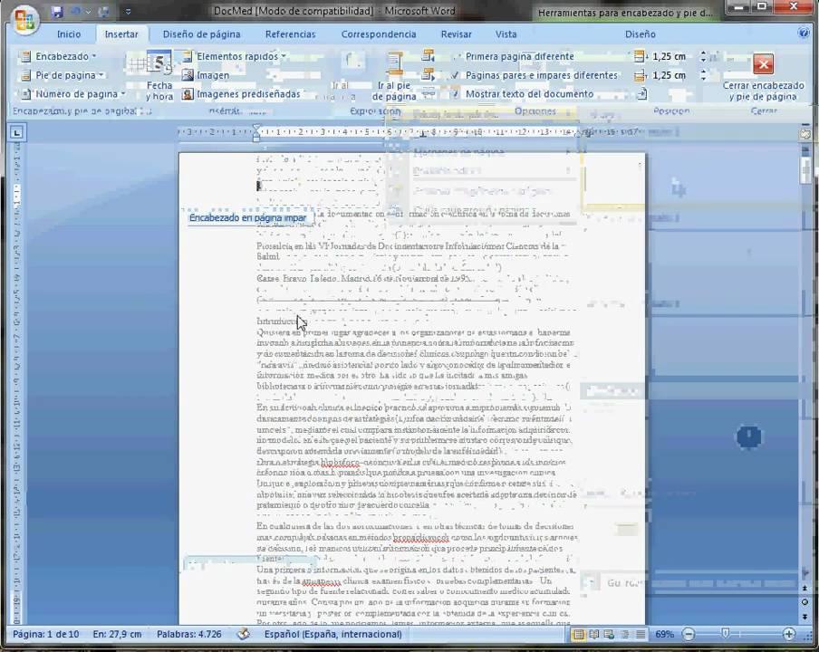 Página 5 De 6: Formato De Página En Word 2007