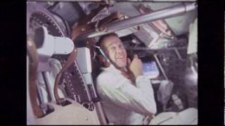 "Apollo-14: crew inside CM ""Kitty Hawk"""