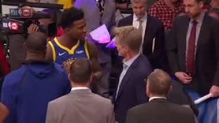 Steve Kerr and Jordan Bell Having a Heated Exchange | Warriors vs Lakers - January 21, 2019