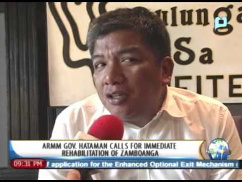 NewsLife: ARMM Gov. Hataman calls for immediate rehabilitation of Zamboanga