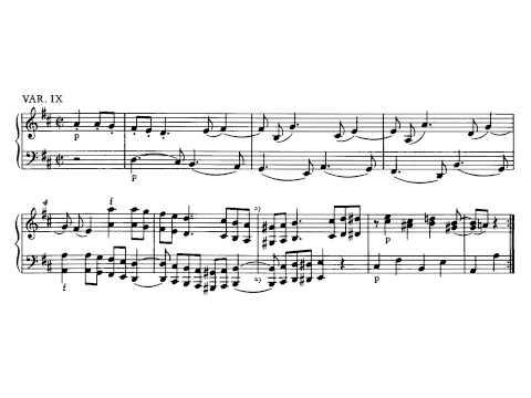 Mozart. Sonata para piano nº 6 Kv 284. III. Tema con variaciones.