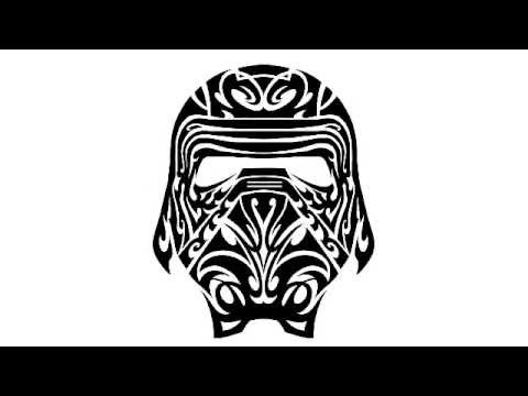 how to create a kylo ren star wars the force awakens tribal tattoo design youtube. Black Bedroom Furniture Sets. Home Design Ideas
