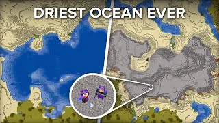 We Drained The WHOLE Ocean in Minecraft Survival