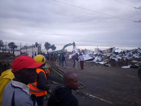 Angry residents protest against government's demolition of Imara Daima Railway slum