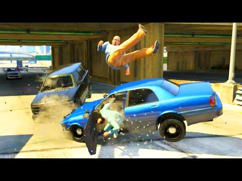 GTA V Unbelievable CrashesFalls - Episode 70
