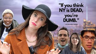"""New Yorkers REACT to """"New York is a GHOST TOWN""""!"""
