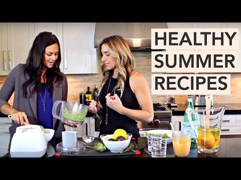 summer-avocado-spinach-dip-&-peach-spritzer-recipe-|-five-minute-quickie
