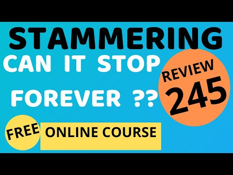 STUTTERING PERMANENTLY STOPPED:Review 245:Dr  Arora Pune