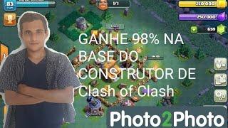 Como ganhar 98% na batalha da base do construtor de Clash of Clans.