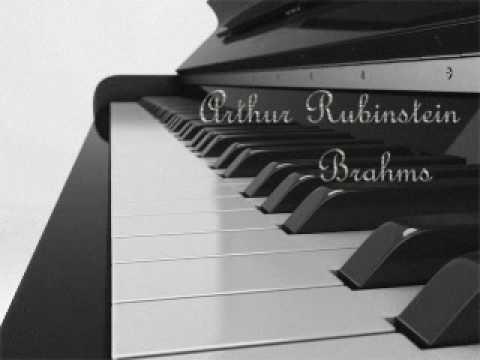 Arthur Rubinstein - Brahms Rhapsody Op. 79, No. 1, in B minor