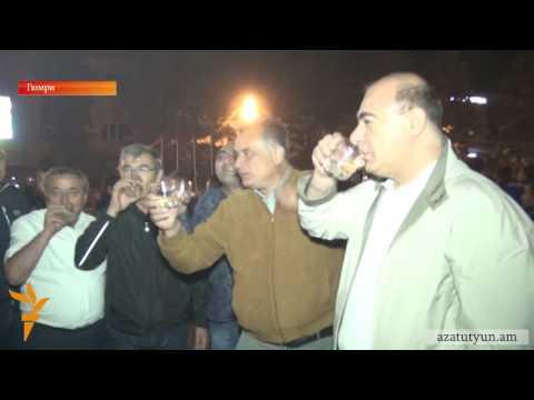 Как в Гюмри праздновали олимпийское «золото» гюмринца Артура Алексаняна