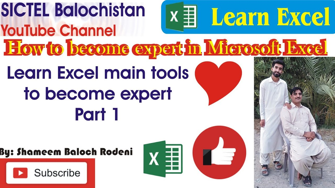 How To Become Expert In Microsoft Excel 2013 | Learn Main Tools Part 1 | Easy Computer Tips & Tricks