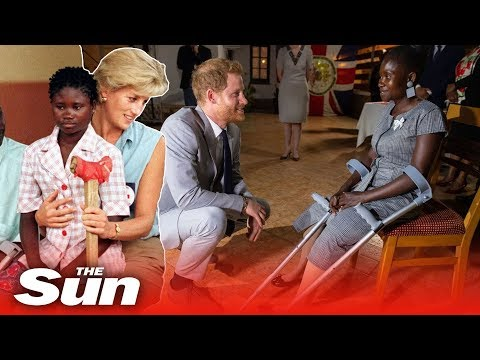 Mimi Brown - Prince Harry's & Angolan Landmine Victim Lady Diana Comforted 22 years ago
