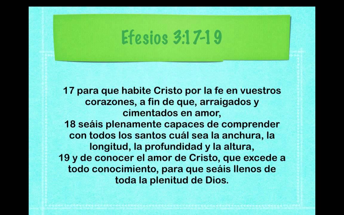 Excepcional Efesios 3:17-19 Versiculo del Dia - YouTube QU83