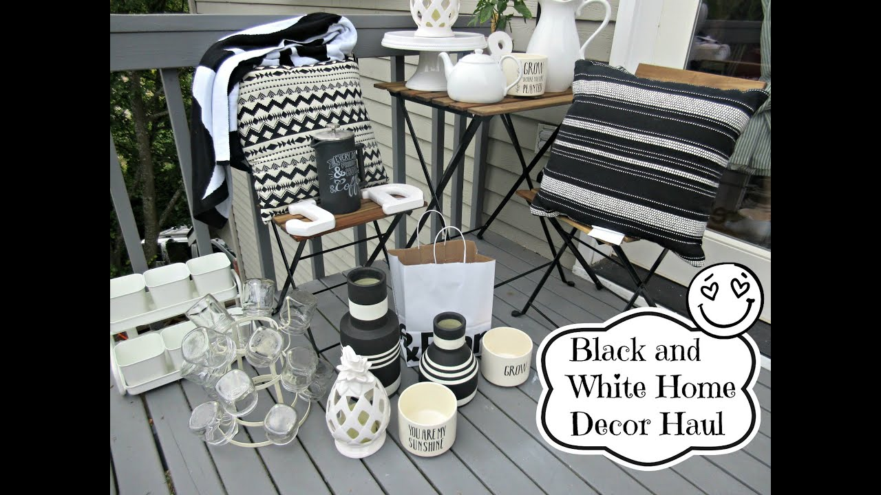 black and white home decor haul | asimplysimplelife haul - youtube