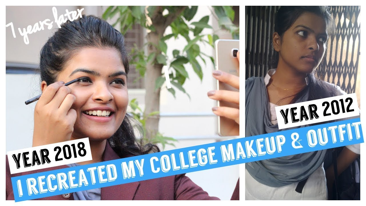 a1210e18e981 I Recreated my College Makeup & Outfit 😱( 7 years Later..) ft. Stay Quirky  kajal
