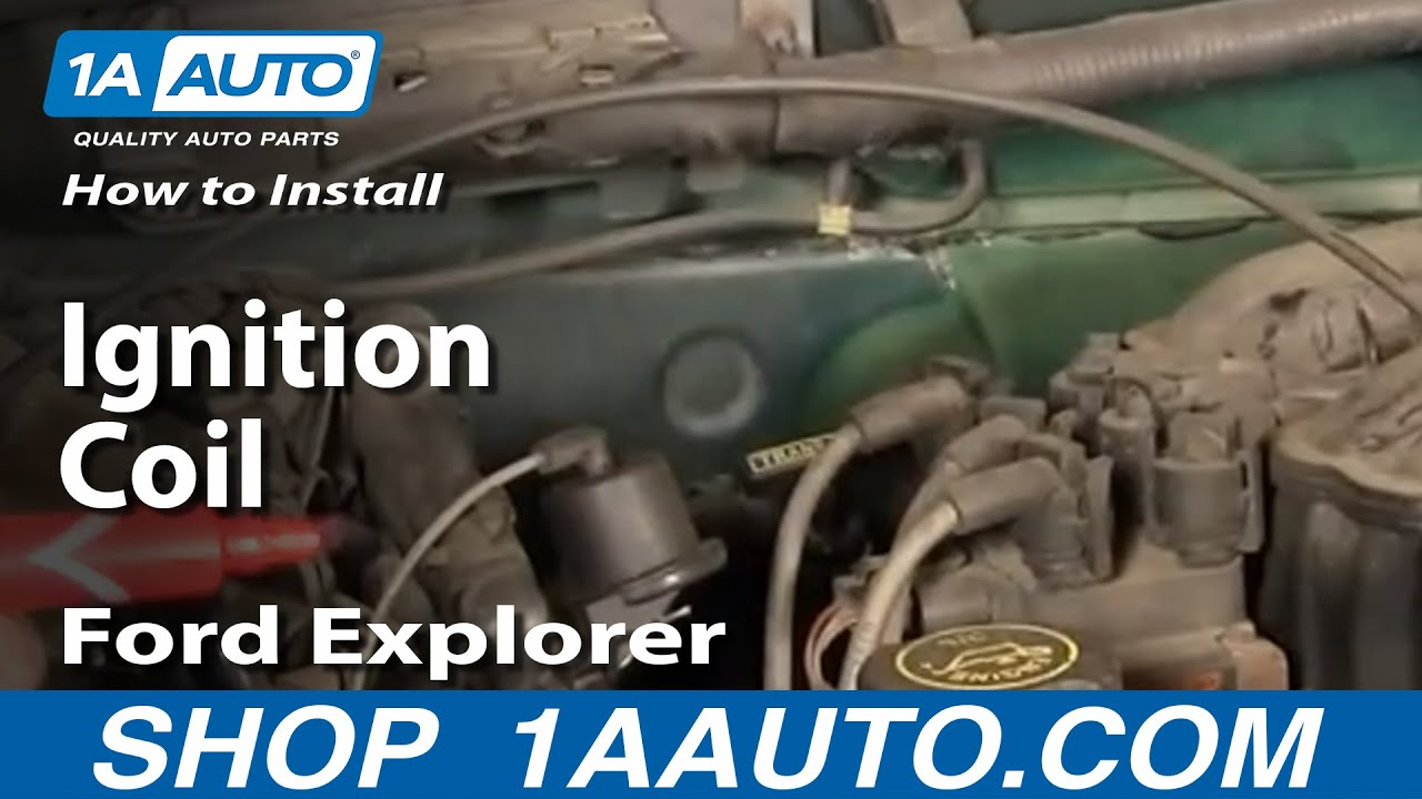 small resolution of how to install replace ignition coil ford explorer mercury mountaineer mazda 4 0l 91 08 1aauto com youtube