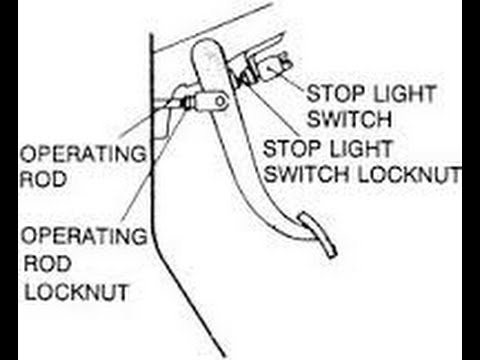 How To Install A Brake Light Switch-Car And Truck Repairs